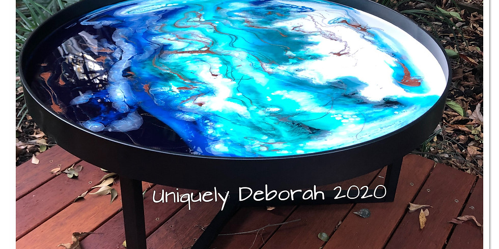 Large Resin Coffee Table - 2 places available