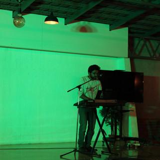 Phalgunn Maharishi playing keyboard