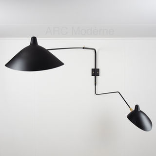 Serge Mouille Two Arm Wall Lamp Wide Her