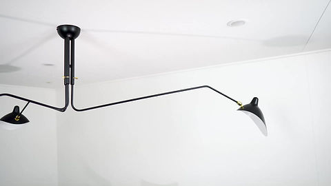 Serge Mouille Three Arm Ceiling Lamp Product Video