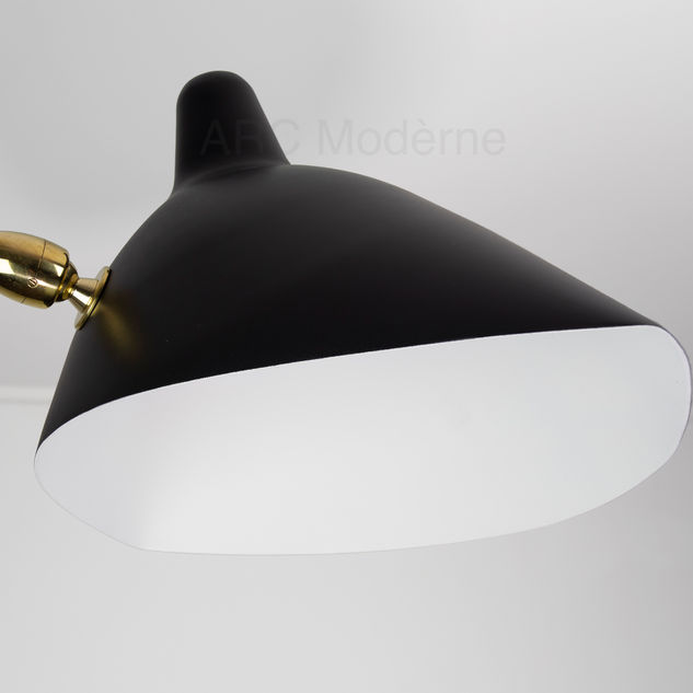 Serge Mouille Two Arm Wall Lamp Shade Wi