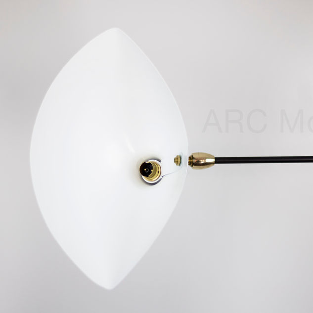 Serge Mouille One Arm Floor Lamp Brass K