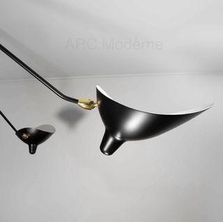 Serge Mouille Five Arm Ceiling Lamp Arm