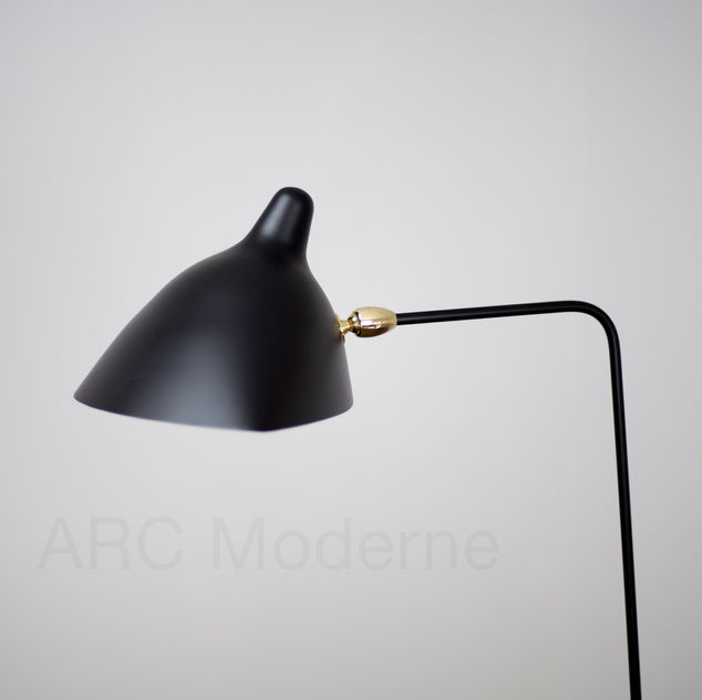 Serge Mouille One Arm Floor Lamp Shade.j