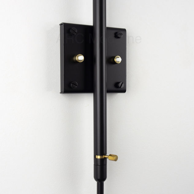 Serge Mouille Two Arm Wall Lamp Plate.jp