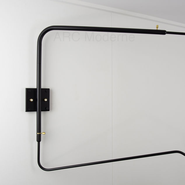 Serge Mouille Two Arm Wall Lamp Square B