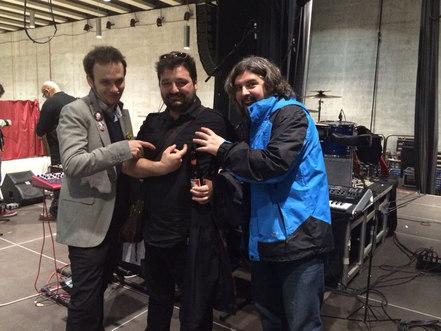 Álvaro, Javi y Gonzalo, los únicos componentes que siguen con Las Personas actualmente.