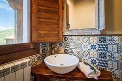 Uno de los cuartos de baño de El Nogal de Laguna