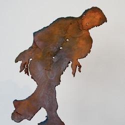l'homme marche (30x15cm)