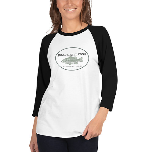 Limited Edition Jolly's Mill Pond Bass Baseball Shirt (Women's)