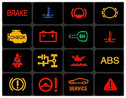 CHECK ENGINE, SERVICE ENGINE SOON, ABS LIGHT, Warning Light