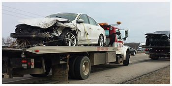 Police Dispatched Crash Towing, Wrecked Cars