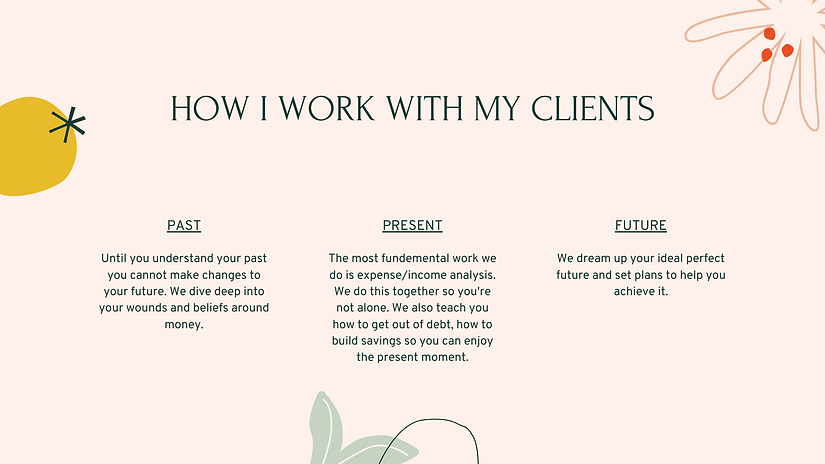 How I work with my clients