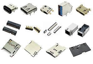 SIM socket, Micro SD socket, CF socket, FPC Connector, USB 3.0 connector, USB C Type connector, Waterproof connector