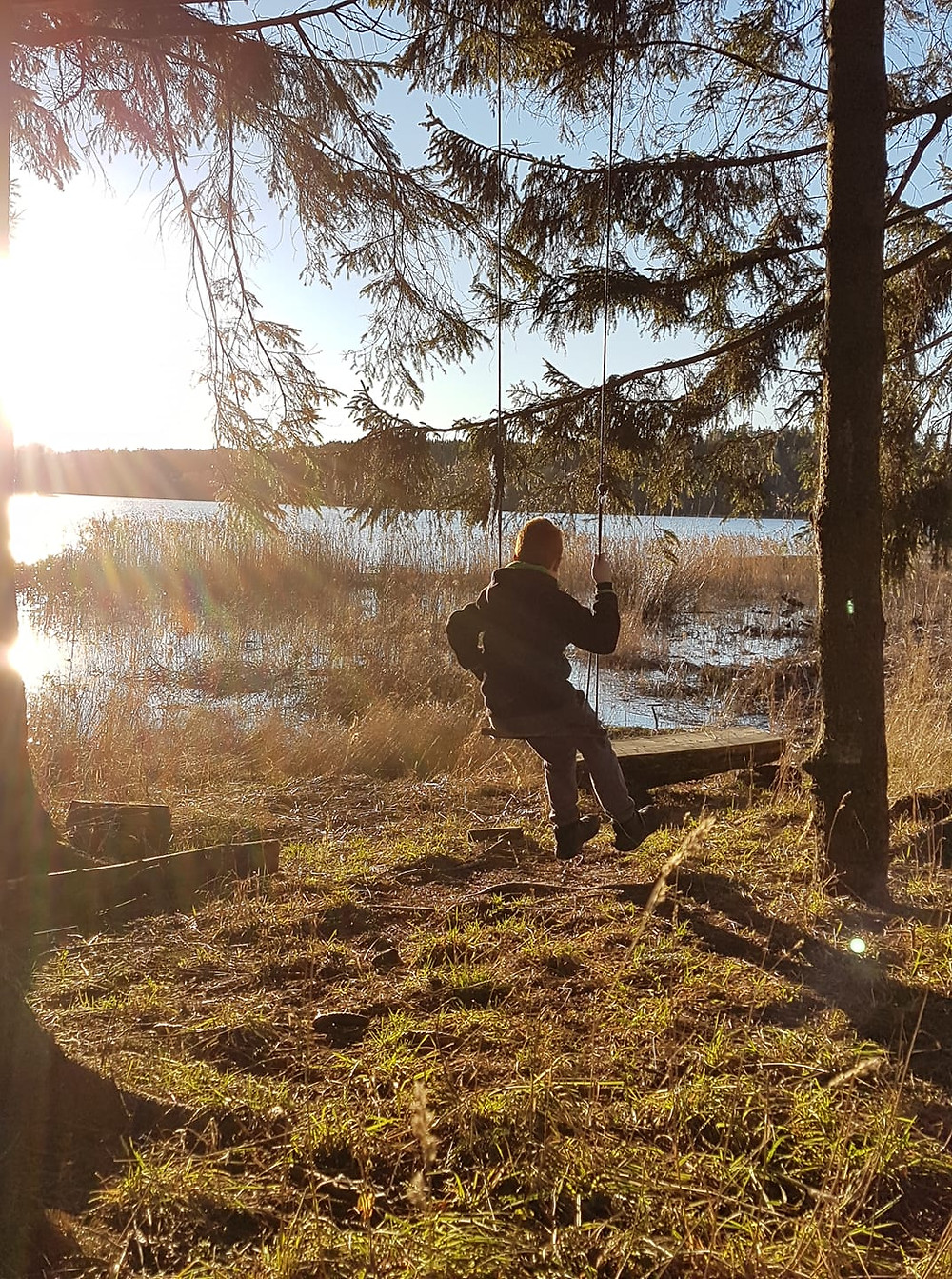 Norway autumn lake