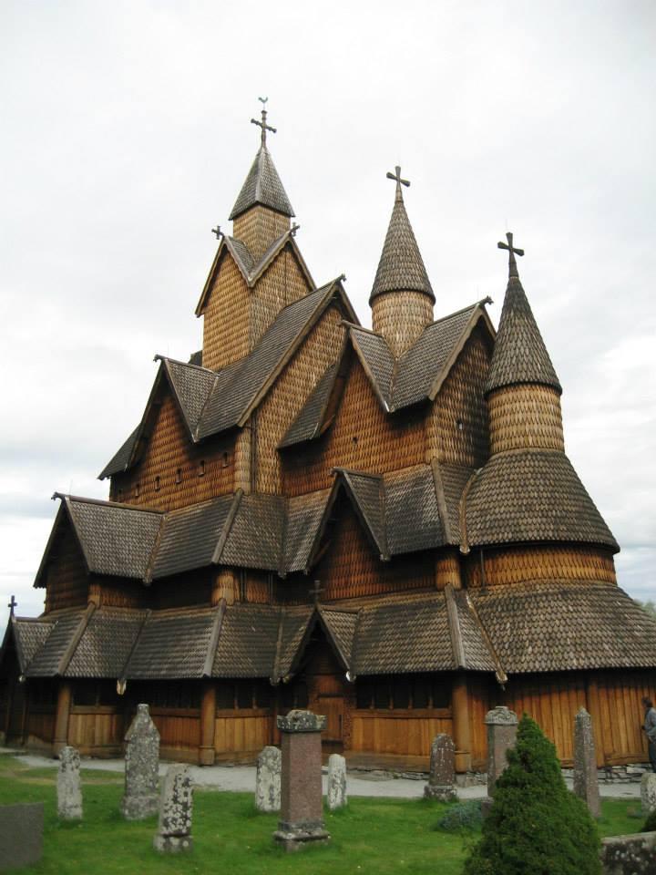 Norwegian stave church, Heddal Norway