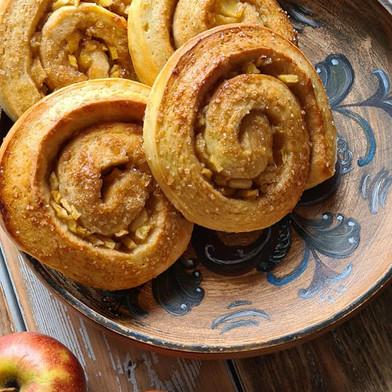 Eple og Kardemomme Snurrer (Apple and Cardamom Rolls)