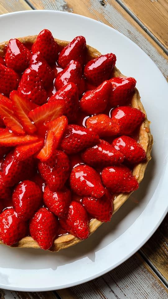 strawberry tarte, jordbærterte