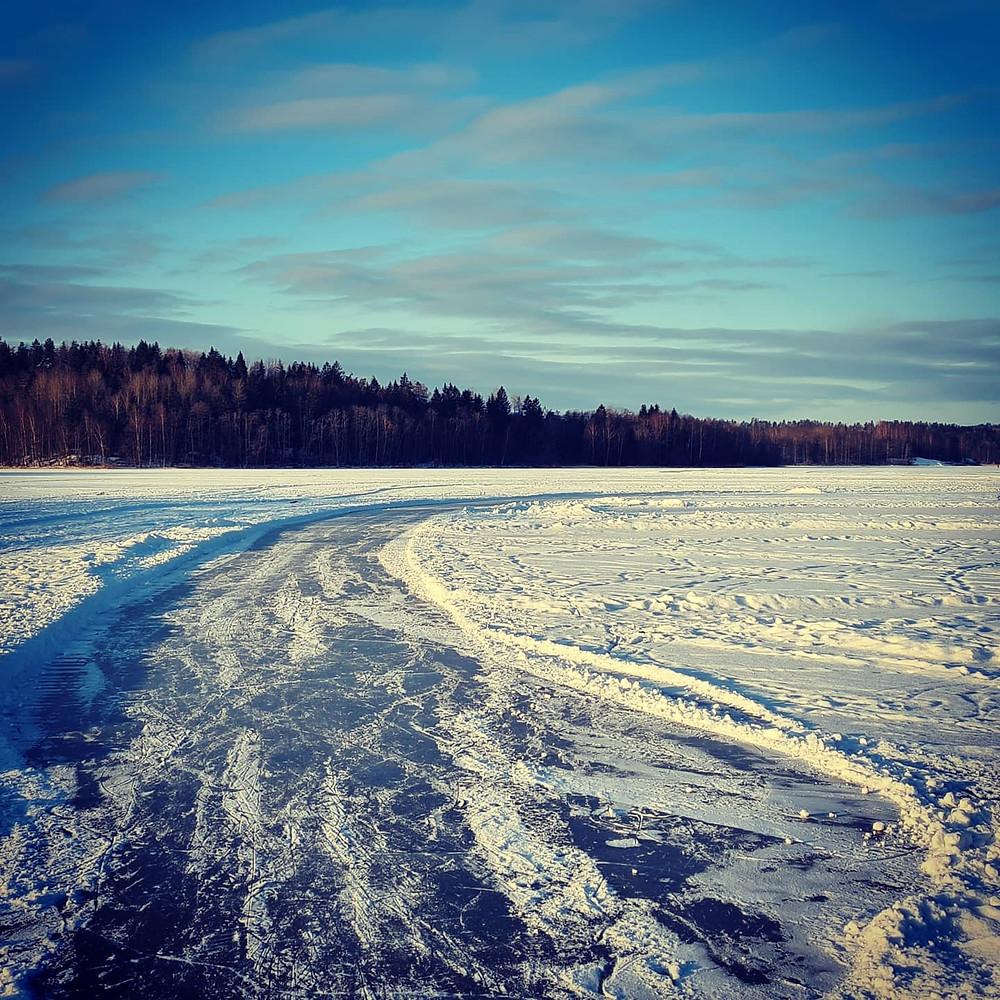 Frozen lake Norway