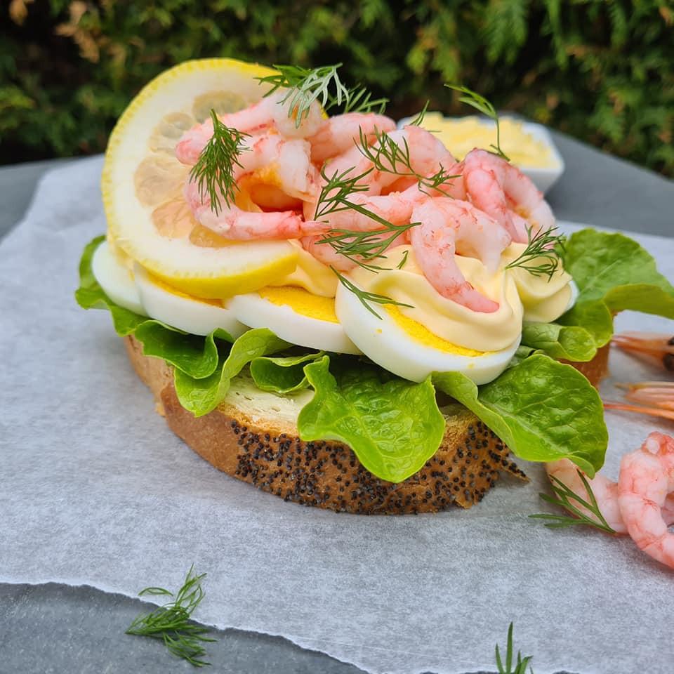 Swedish prawn open sandwich