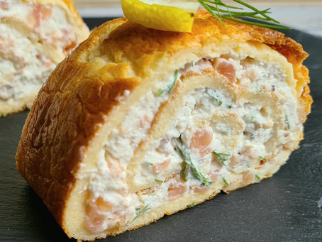 Smoked Salmon and Dill Roulade