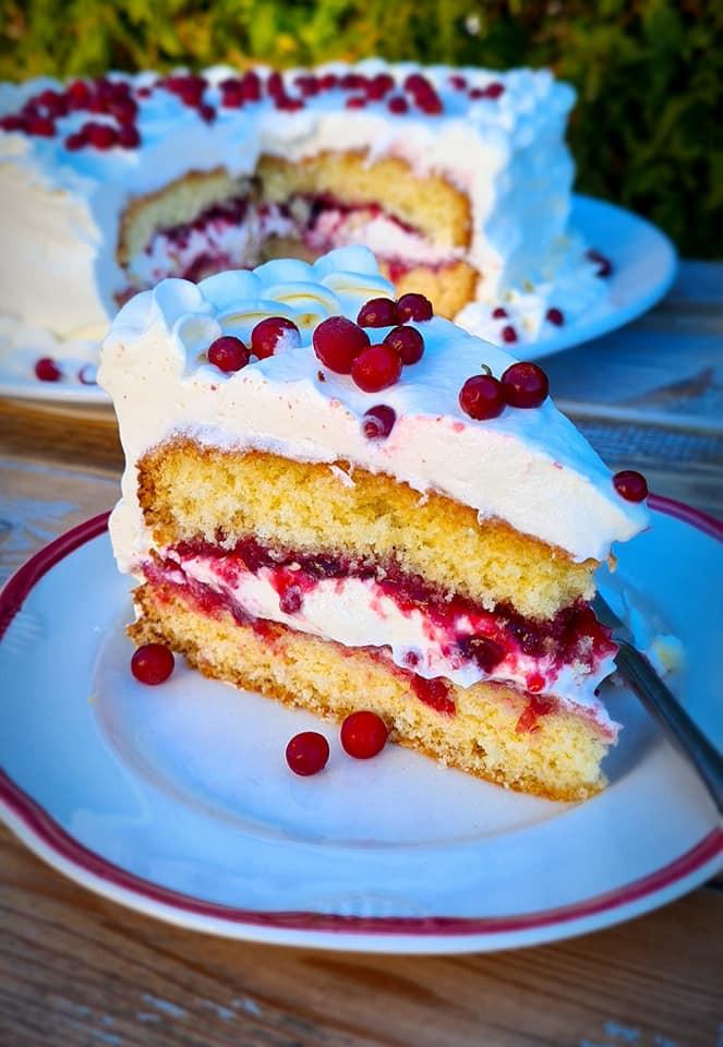 Norwegian cream cake, bløtkake