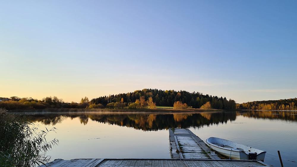 Norway lake dawn