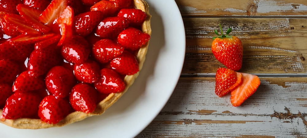 strawberry tart, tarte aux fraises