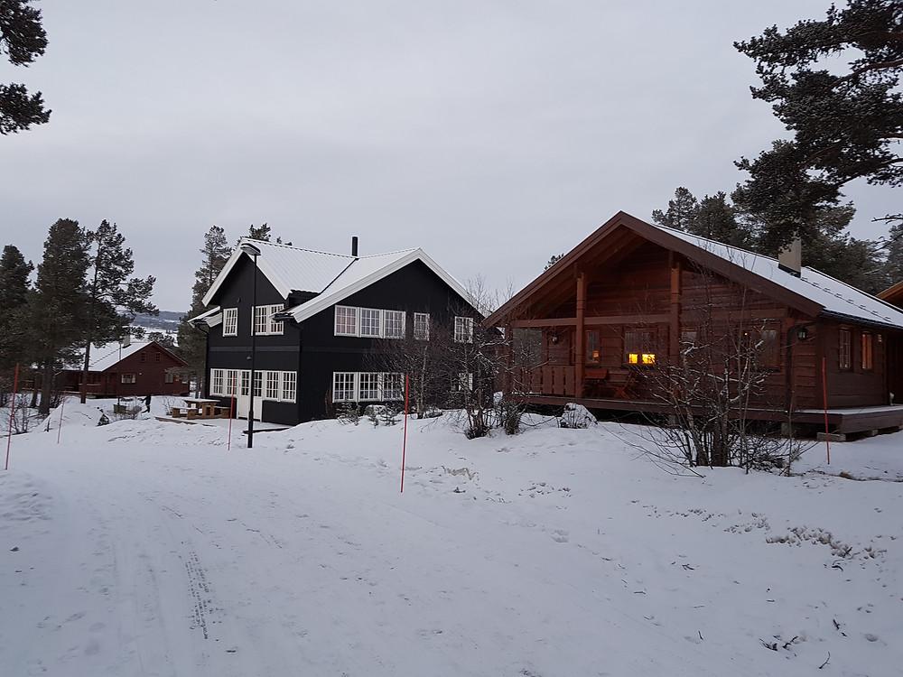 Norway snow winter cabins