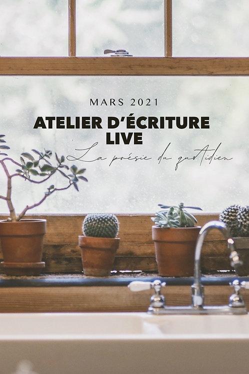 Pack replay Atelier live La poésie du quotidien