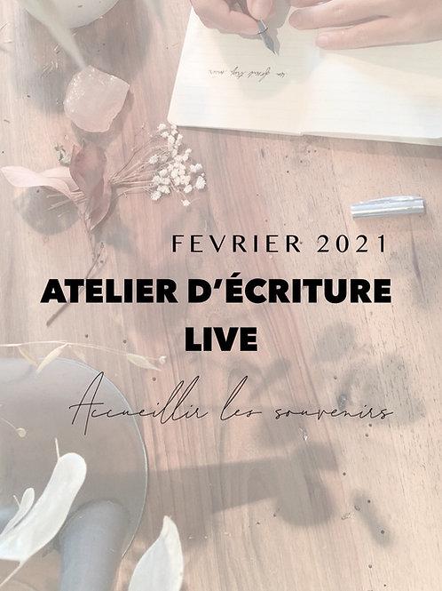 Pack replay Atelier live Accueillir les souvenirs