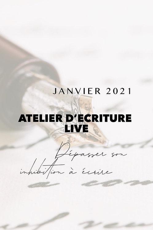 Pack replay Atelier live Dépasser son inhibition à écrire