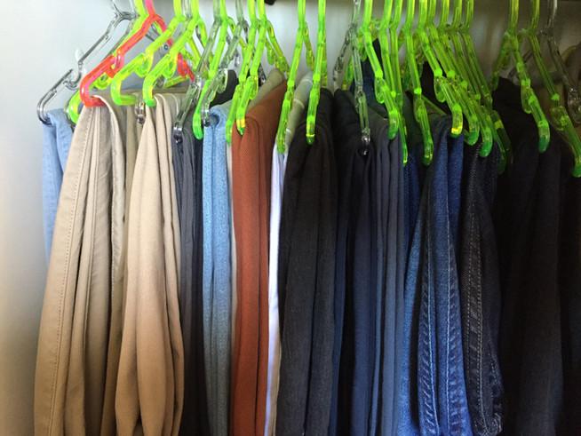 Organizando calças!