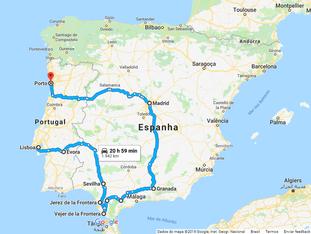 Nosso roteiro de viagem - Espanha e Portugal
