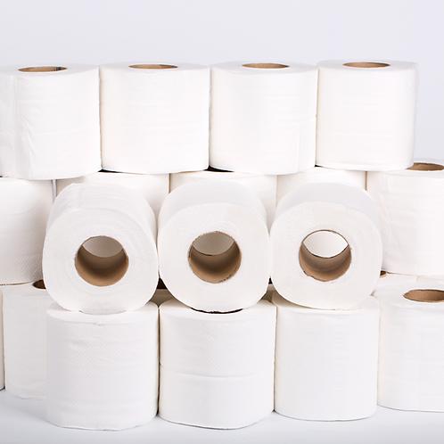 Papel Higiénico Doméstico - SILKY Folha dupla normal - Embalagem de 108 Rolos