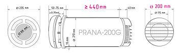 Prana 200G, Prana rekuperaator, Pranavent, ventilatsioon, ventilatsiooniseade, värskeõhuklapp