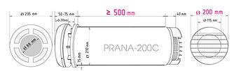 Prana-200C, Prana rekuperaator, Pranavent, ventilatsioon, ventilatsiooniseade, värskeõhuklapp