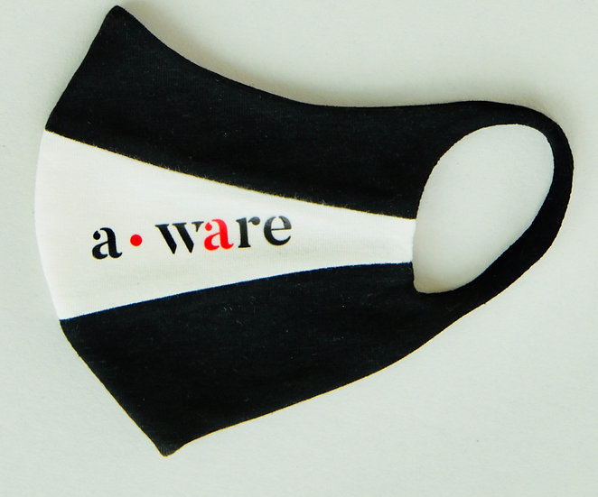 black and white aware mask