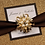 Thumbnail: Glittering Gold Wedding Invitations Cards with rhinestone gold buckle
