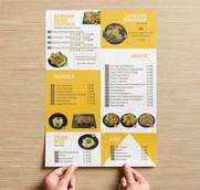 메뉴 디자인 인쇄