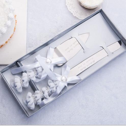 Engraved Wedding Cake Serving Set 1