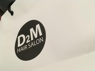 D2M 헤어샵 쇼핑백