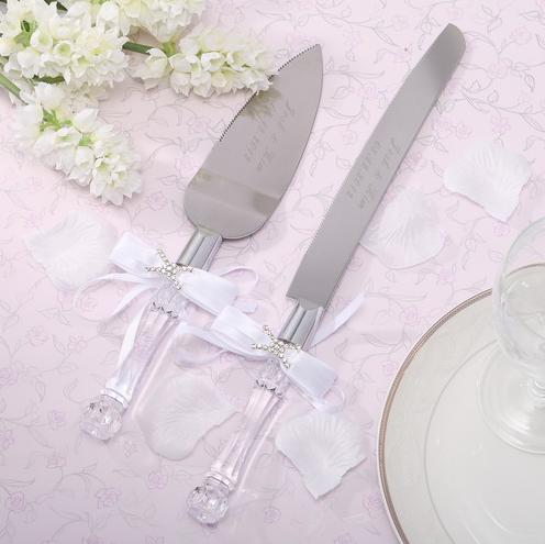 Engraved Wedding Cake Serving Set
