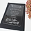 Thumbnail: laser engraving letters clear acrylic invitation card