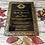 Thumbnail: Black & Gold acrylic invitation card