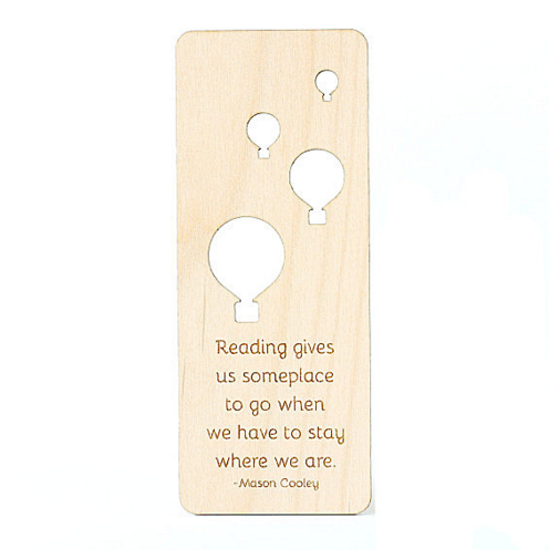 Wood Bookmark Hot Air balloon Wooden Bookmarks Wedding Gift for Couples Wedding