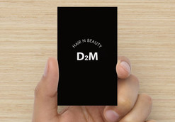 D2M 헤어샵 명함