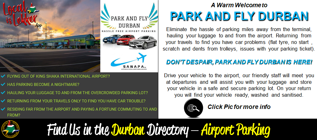 Park & Fly Durban - Mailshot Welcomes Ma