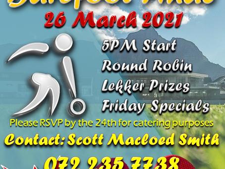 Bowls Barefoot Final - 26 March 5pm start