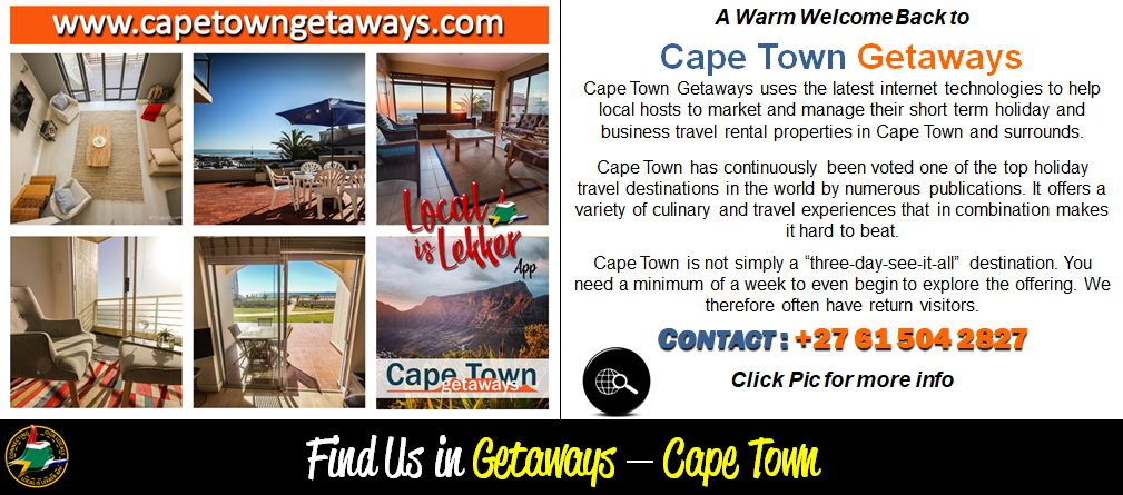 Cape Town Getaways - Mailshot Welcomes M
